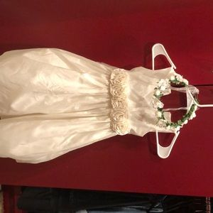 Flower girl dress with crown